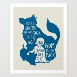 Strength of the Pack - Wolf and Child Art Print