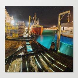 Light in the Wharf Canvas Print