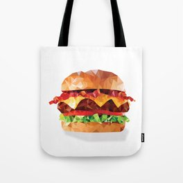 Geometric Bacon Cheeseburger Tote Bag