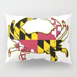 Maryland Flag Crab Pillow Sham