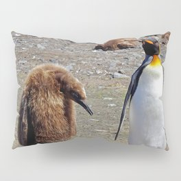 King Penguin and Chick Pillow Sham