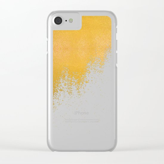 Gold Rush Peacock Clear iPhone Case