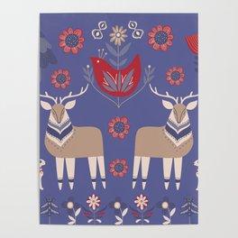 Scandinavian Winter Pattern #society6 #buyart Poster