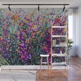 Hollyhock Fantasy Pollock Inspired Abstract Wall Mural