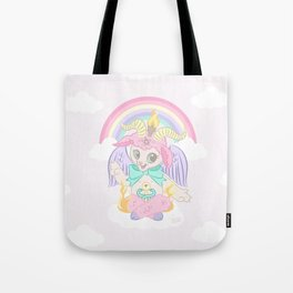 Baphomet Baptism by Fire Tote Bag