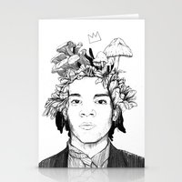 basquiat Stationery Cards featuring Basquiat by offthefaceoftheearth
