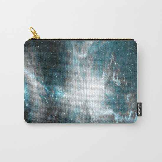 Orion Nebula Teal Gray Galaxy Carry-All Pouch