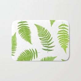 Fern seamless pattern. Bath Mat