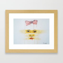 always looking, always learning Framed Art Print
