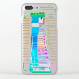 QUEEN / White / Chess Clear iPhone Case