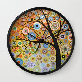 Abstract Art Original Landscape Painting ... Rays of Hope Wall Clock