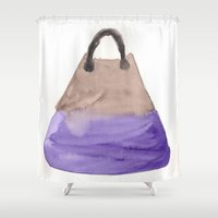 tote bag Shower Curtains featuring Tote 2 by ©valourine