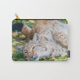 Playful Lynx Carry-All Pouch