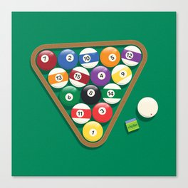 Billiard Balls Rack - Boules de billard Canvas Print