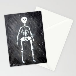 Overweight skeleton Stationery Cards