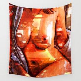 Pop art nude Wall Tapestry
