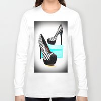 shoe Long Sleeve T-shirts featuring Shoe Lust by 2sweet4words Designs