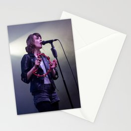 Martin Doherty and Lauren Mayberry on stage, Scotland Stationery Cards