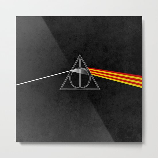 the darkside of the deathly hallows Metal Print