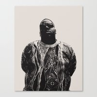 notorious Canvas Prints featuring Notorious by Ricca Design Co.