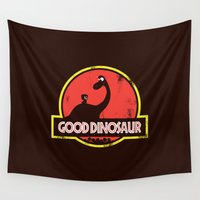 dinosaur Wall Tapestries featuring Good Dinosaur by Steven Toang
