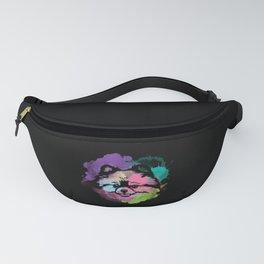 Dog Lover I Splash Art Pomeranian Fanny Pack