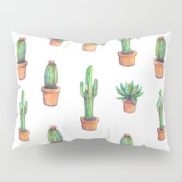 white cactus in orange pockets Pillow Sham