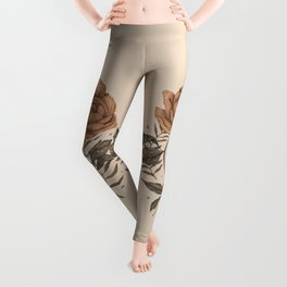 Peony and Ferns Leggings