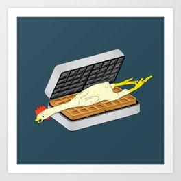 Rubber Chicken & Waffles Art Print