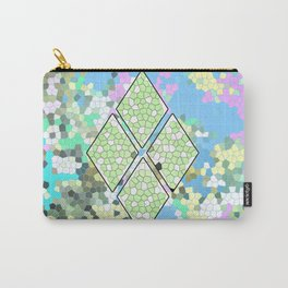 Geometric Pastel Figure Carry-All Pouch