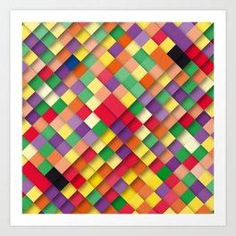 autumn rectangles Art Print