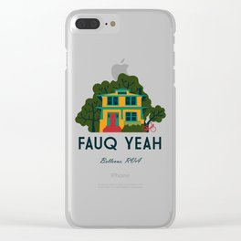 Fauq Yeah Clear iPhone Case
