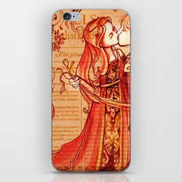 Alls Well That Ends Well - Romantic Shakespeare Folio Illustration iPhone Skin