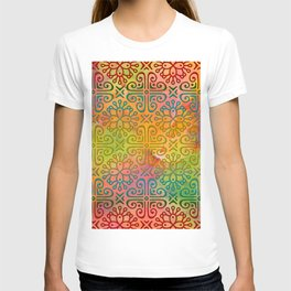 DP050-6 Colorful Moroccan pattern T-shirt