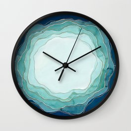 Whatever You Are, Try to be a Good One // Blue Organic Waves Wall Clock