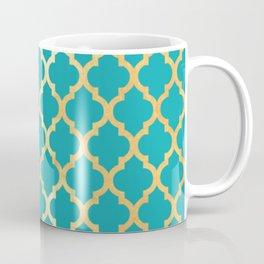 Moroccan Gold & Turqoise Coffee Mug