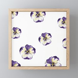 Purple flowers Framed Mini Art Print