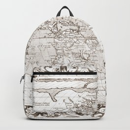 World map wall art 1603 dorm decor mappemonde Backpack