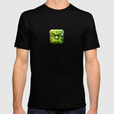 Yoda Mens Fitted Tee Black MEDIUM