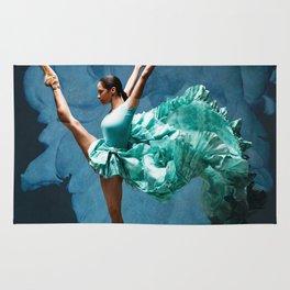 -O1- Blue Ballet Dancer Deep Feelings. Rug