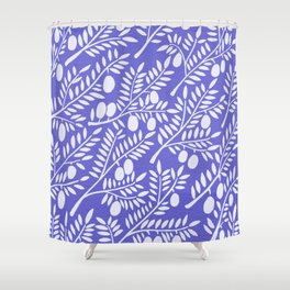 Olive Branches – Periwinkle Shower Curtain