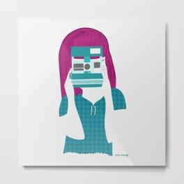 Supercolor Girl Metal Print