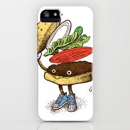 Burger Greeting iPhone Case