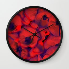 Floral abstract 16 Wall Clock