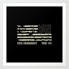 USS Farragut Art Print