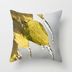 Dripping Ice Throw Pillow