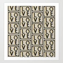 LOVE Ceramics pattern, Wall Art Art Print