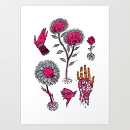 pink misc flashart Art Print