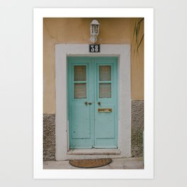 Mint Door Art Print