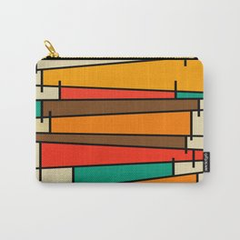 Retro Modern Geometric Shapes Carry-All Pouch